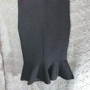 Junior grey knit shirt